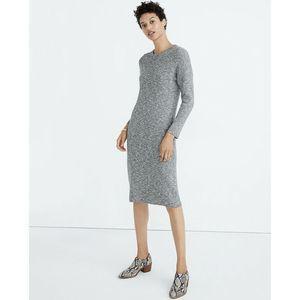 MADEWELL Gray drop-shoulder sweater midi dress